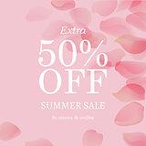 Summer Sale Pink Banner