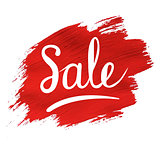 Sale banner With Red Blob