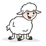 Cartoon Funny Sheep
