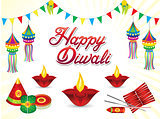 abstract artistic creative diwali background