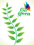 abstract artistic creative go green leaf