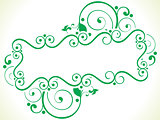 abstract artistic creative green floral