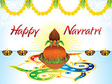 abstract artistic creative detailed navratri background