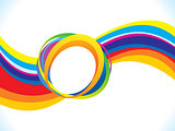 abstract artistic creative rainbow wave