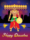 abstract artistic dussehra background