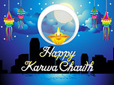 abstract artistic karwa chauth background