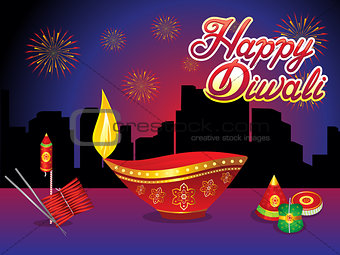 abstract creative diwali night background