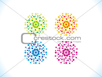 abstract creative multiple colorful flowers