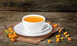 Tea of sea-buckthorn berries
