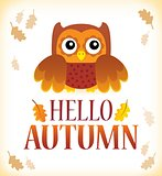 Hello autumn theme image 1