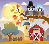 Thanksgiving owls thematic image 3