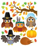 Thanksgiving owls thematic set 1