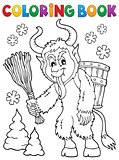 Coloring book Krampus theme 1