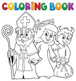 Coloring book Saint Nicholas Day theme 1