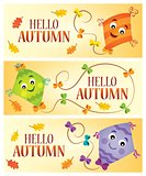 Hello autumn theme banners 1