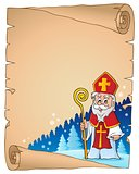 Parchment with Sinterklaas theme 1