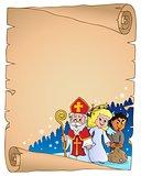 Saint Nicholas Day thematic parchment 2