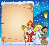 Saint Nicholas Day thematic parchment 3