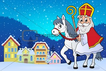Sinterklaas on horse theme image 2