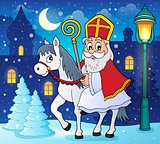 Sinterklaas on horse theme image 3
