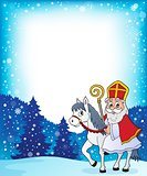 Sinterklaas on horse theme image 4