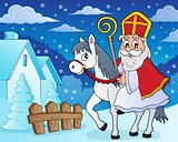 Sinterklaas on horse theme image 5