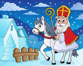 Sinterklaas on horse theme image 5