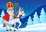 Sinterklaas on horse theme image 6