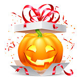 Halloween Pumpkin in Gift Box