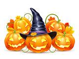 Smiling Halloween Pumpkins