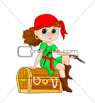 Little girl pirate