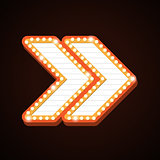Arrow billboard retro light frames theater sign