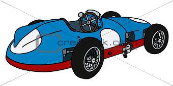 Classic blue racing car