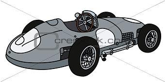 Classic silver racing car