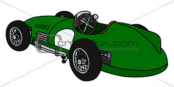 Classic green racing car