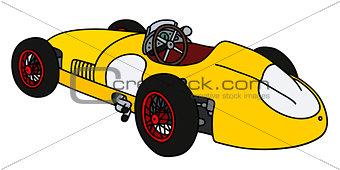 Classic yellow racing car