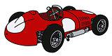 Classic red racing car