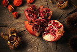 pomegranate and chestnuts