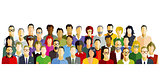 People Participate Group Illustration