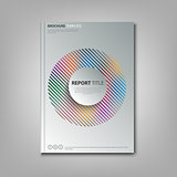 Brochures book or flyer with abstract rainbow in circle template