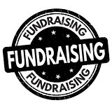 Fundraising grunge rubber stamp