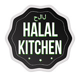 Halal kitchen sticker or label