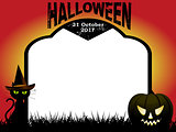 Halloween tombstone copy space background