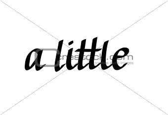A little words written is cursive