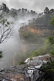 Misty Upper Wentworth Falls