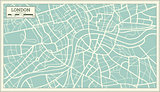 London Map in Retro Style.