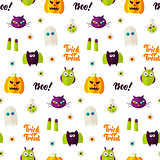 Boo Halloween Seamless Pattern