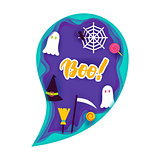 Halloween Ghost Papercut Concept