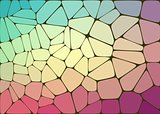 Abstract composition with voronoi geometric shapes