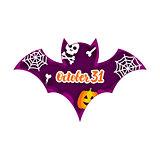 Halloween Bat Paper Cut Concept